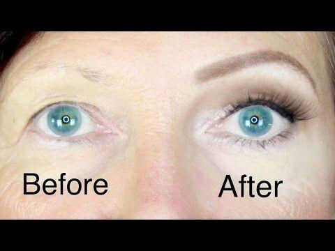 Hooded eye remove look