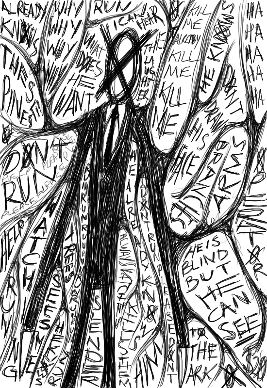 how to draw slender man pages