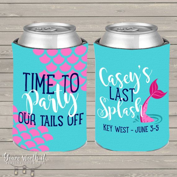mermaid bachelorette party can coolers beverage by youreworthit