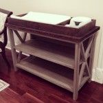 Rustic X Changing Table - Finished