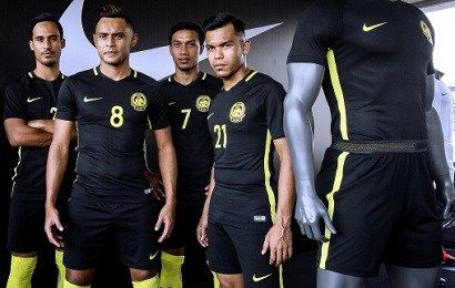 Malaysia 2016/18 Nike Home and Away Kits