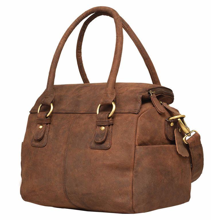 Vintage Leather Rose Bay Ladies Shoulder Messenger Bag