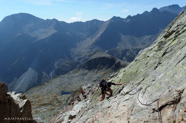 Priecne Sedlo in Tatra National Park in Slovakia