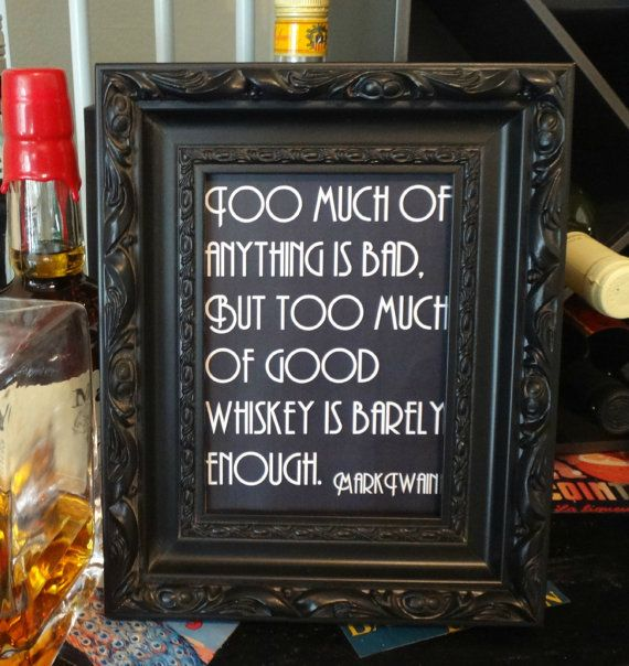 Printable Mark Twain Whiskey Quote Sign - Wedding, Reception, Roaring 20s, Great Gatsby Party, Bar, DIY Instant Download Typography Print on Etsy, $5.00