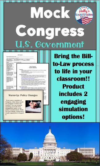 This Mock Congress Will Bring The Bill To Law Process To Life In Your