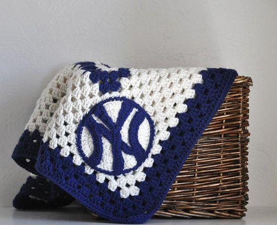 New York Yankee Toddler Baseball Baby  Blanket