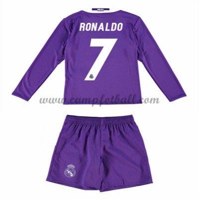 Fotballdrakter Barn Real Madrid 2016-17 Ronaldo 7 Borte Draktsett Langermet