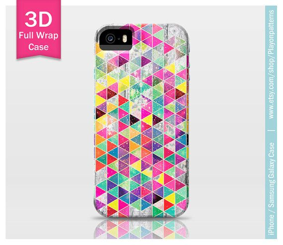Bright Triangles iPhone 4s case iPhone 4 case by playonpatterns, $24.99
