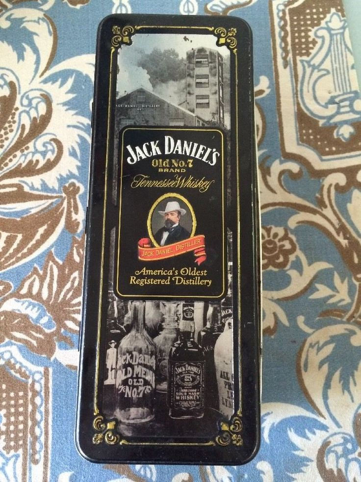 RARE JACK DANIELS NO 7 .OLD VINTAGE ORIGINAL HINGED TIN | eBay