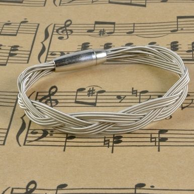 12 String Guitar String Bracelet by High Strung Studios Guitar String Jewelry