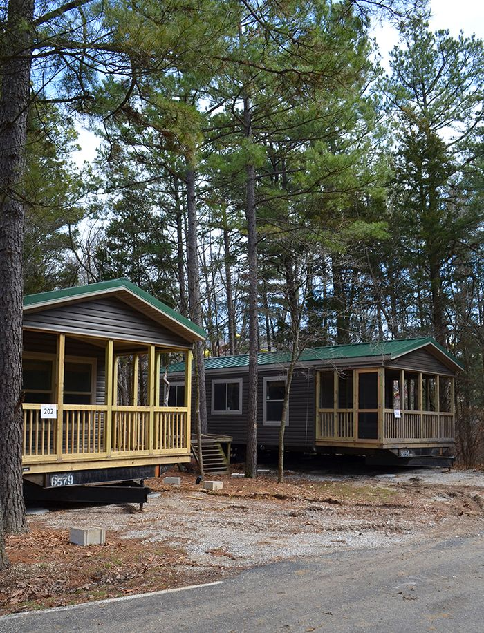 Holiday Cottage Placement At Lake Rudolph Campground RV Resort