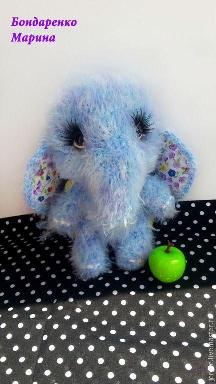 Купить Слоняша - слон, слоник, слоняша, вязаный слон, вязание, игрушки, для детей, вязаная игрушка