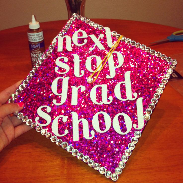 bedazzled graduation cap