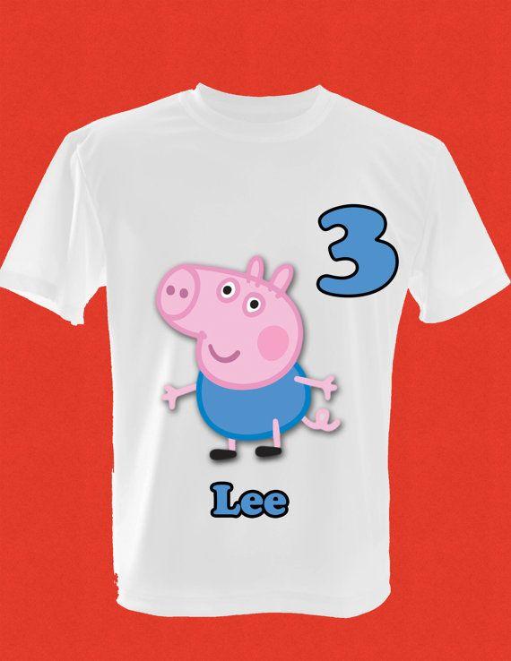 Childrens Peppa Pig George Birthday TShirt by Djinvitations, $12.00