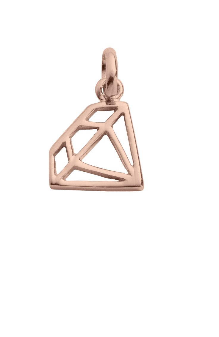 DIAMOND OUTLINE CHARM - Kirstin Ash
