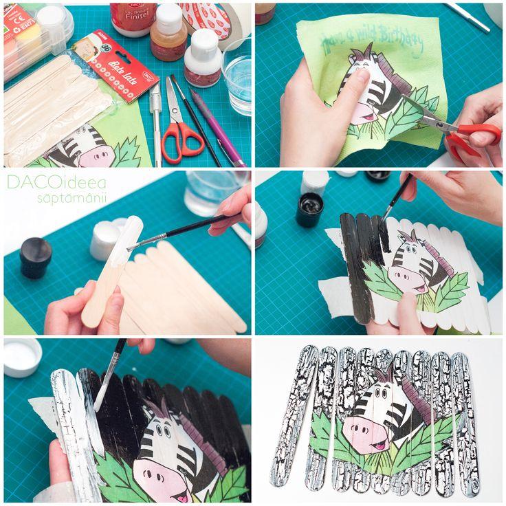 DACOideea săptămânii - Puzzle Crăpățel. Materiale: Bețe late, Acrilia, Lipițel mic, Crăpățel, Finițel, pensule pentru desen, pahar cu apă, șervețel, bandă hârtie, Cutter lucru manual, foarfecă grădiniță, Planșetă tăiere. TUTORIAL VIDEO: https://youtu.be/rTo3Jo8OsrY. Produsele sunt disponibile pe http://www.dacomag.ro.