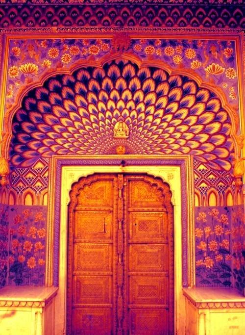 : Facades, Doors Design, Saturated Colors, Double Doors, Beautiful, Peacock Doors, Colors Doors, Cool Doors, Doors Entrance Window