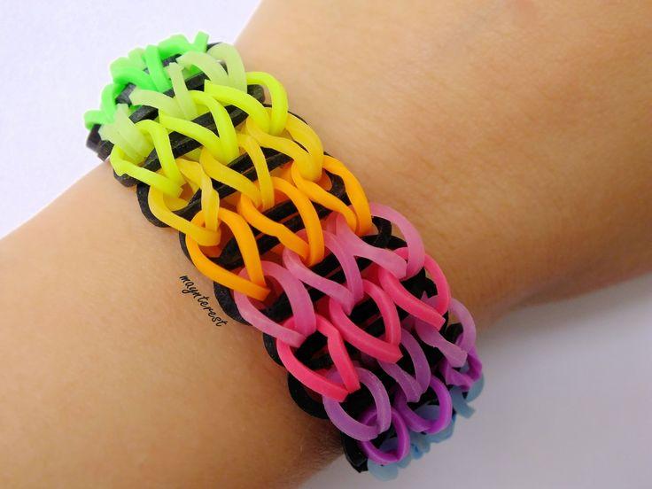 Pulsera de gomitas triple simple / Triple single bracelet