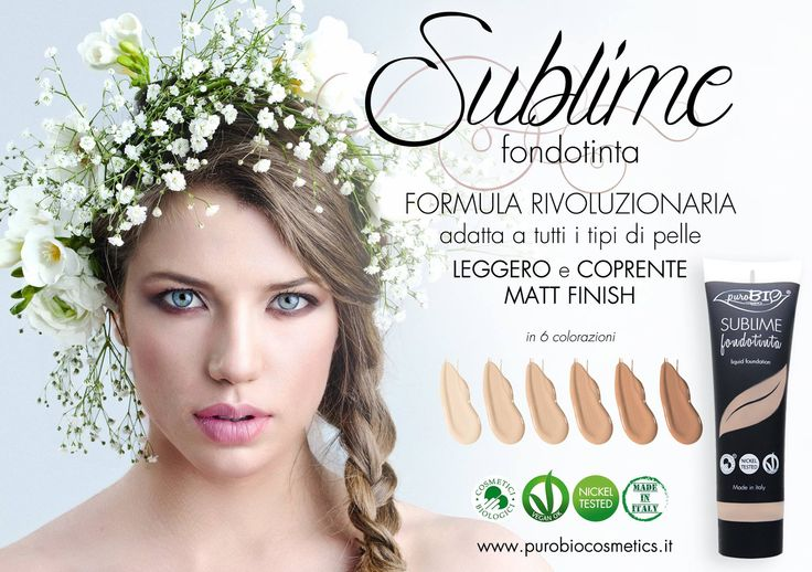Fondotinta Biologico, made in Italy e Nickel tested diponibile in sei nounces!  #EcoArmonie #EcoBio #EcoBioCosmesi #CosmeticiNaturali #CosmesiNaturale #CosmeticiEcoBio