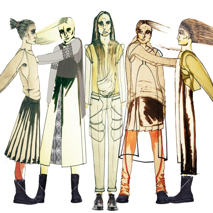 #fashion #illustration #rick #owens #rickowens #design #menswear #conceptualdesign #inspire #create check out more of my work at www.ceosmanfashion.portfoliobox.com @Portfoliobox