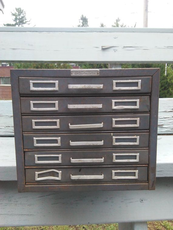 Vintage SteelMaster 6 drawer file cabinet by UpTheAntiqueCo