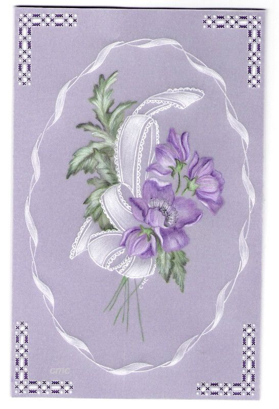 By Carolyn C.  Parchment card coloured with polychromo pencils. Dorothy Holness.