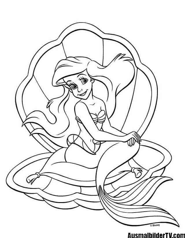 Arielle Ausmalbilder Ausmalbilder Arielle Ausmalbilder Disney Farben