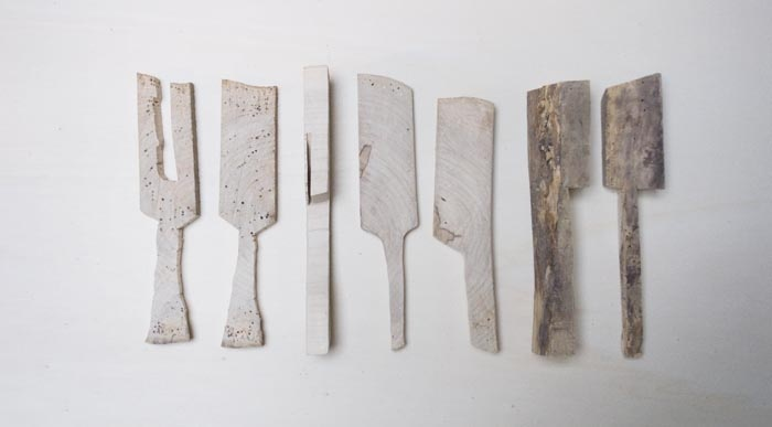 """Matylda Krzykowski, """"Daddy Would be Proud"""", wooden objects. Photo courtesy of the artist."""