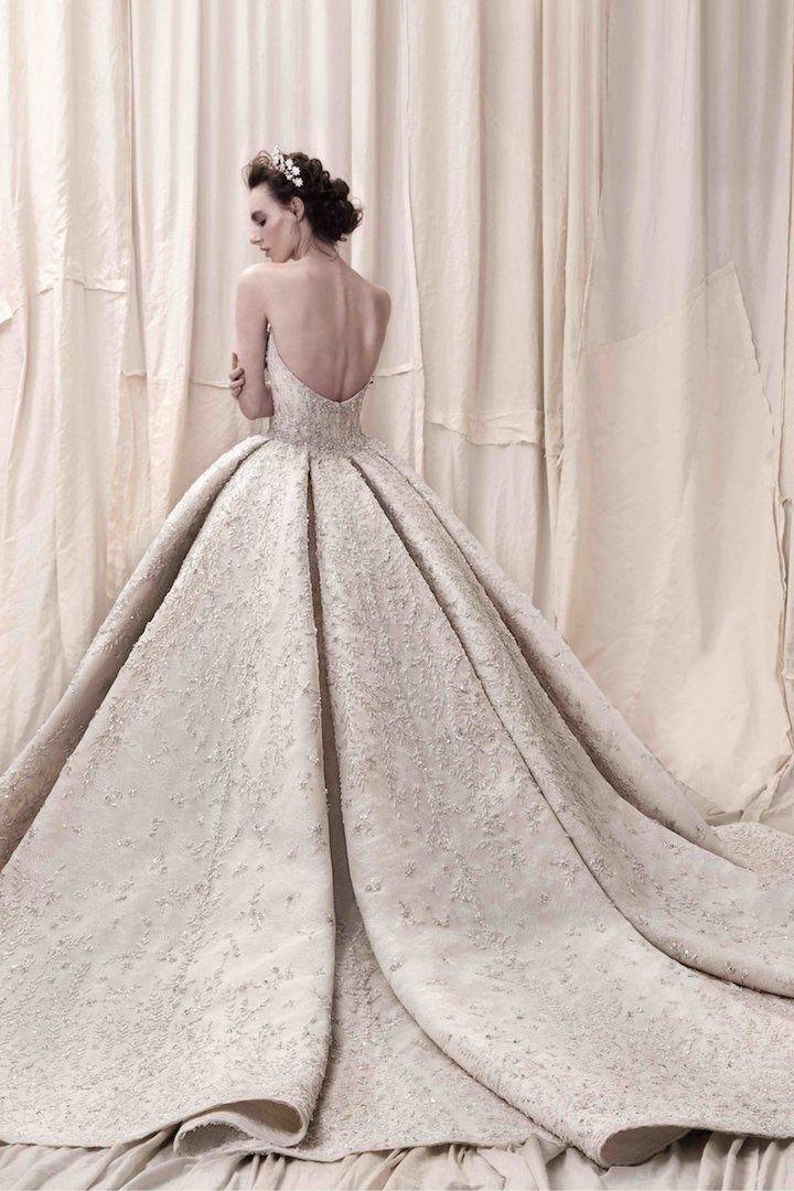 Featured Wedding Dress:Krikor Jabotian;www.krikorjabotian.com; Wedding dress idea.