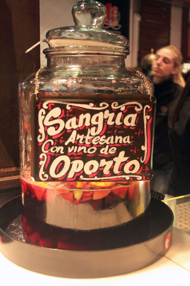 Sangria in Mercado San Miguel, Madrid