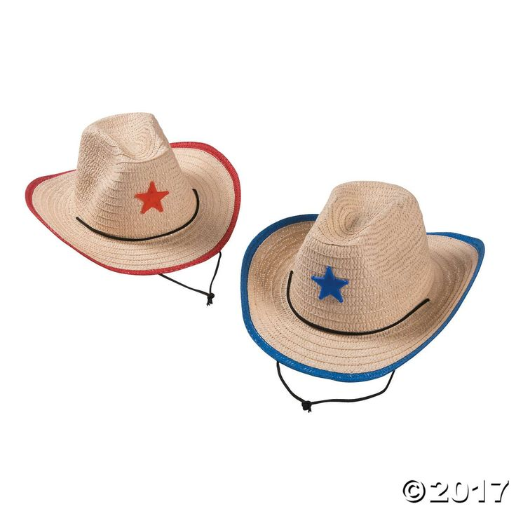 Have a Wild West time at your next rodeo! These kids' cowboy hats are fun party favors, or use them as Halloween costume accessories. Children love the ...