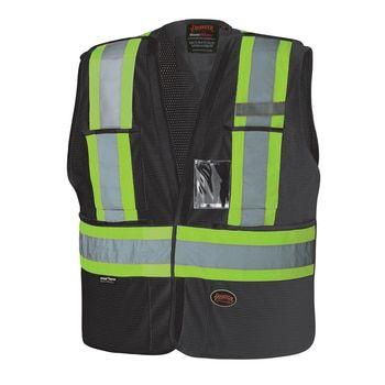 6933BK Hi-Viz Safety Tear-Away Vest