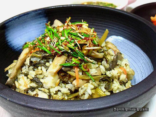 겨울철건강별미밥~~구수하고 고소한 느타리버섯시래기밥 – 레시피   Daum 요리