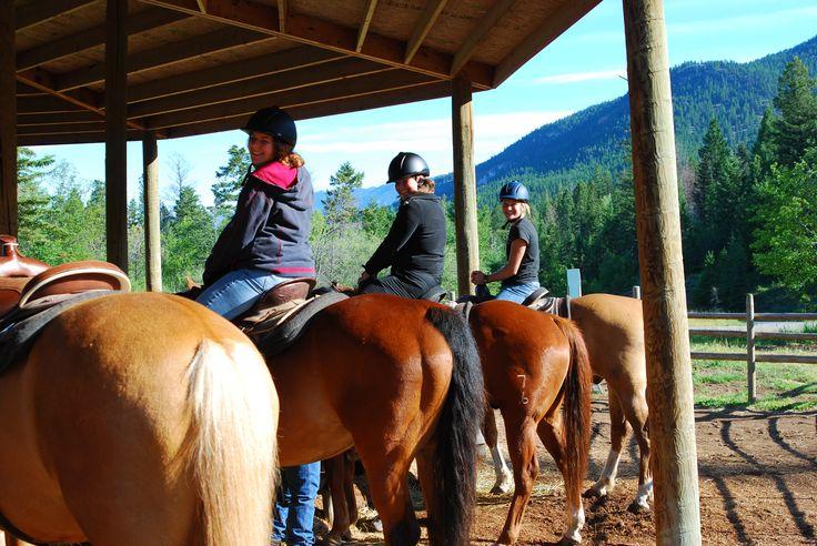 Trail riding #FairmontHotSpringsResort #BCRockiesAdventures #horses #trailride #adventure #activities