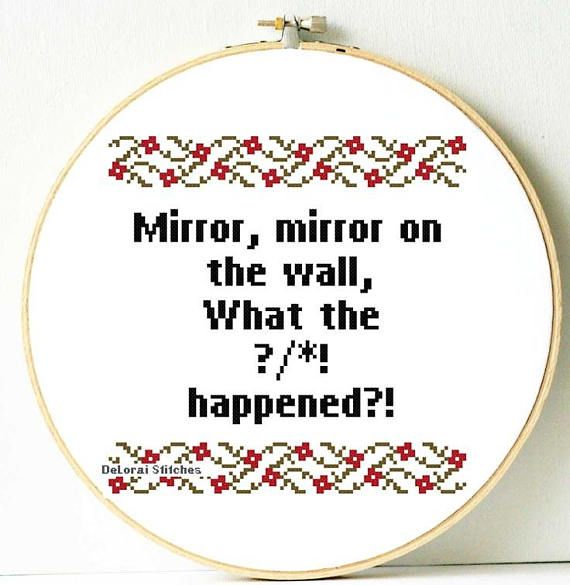 Funny cross stitch pattern. Funny Subversive cross stitch.
