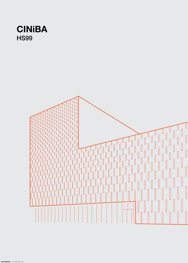 arch_it piotr zybura architectural poster. CINiBA Katowice by HS99.