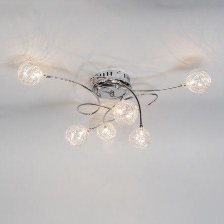 Deckenleuchte Soap 6 Chrom Deckenlampe Lampe Innenbeleuchtung Wohnzimmerlampe
