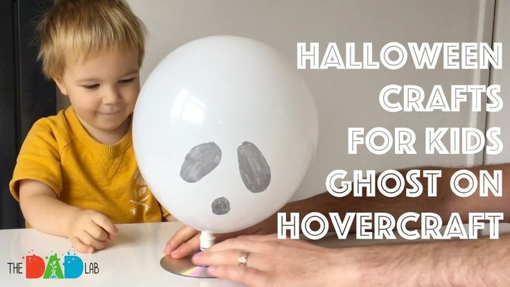 Halloween Crafts for Kids: Ghost on Hovercraft