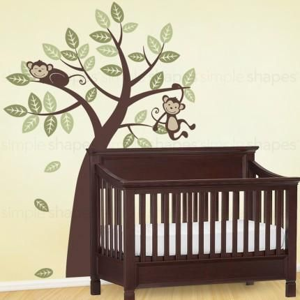 Tree Wall Decal with Monkeys #SimpleShapes