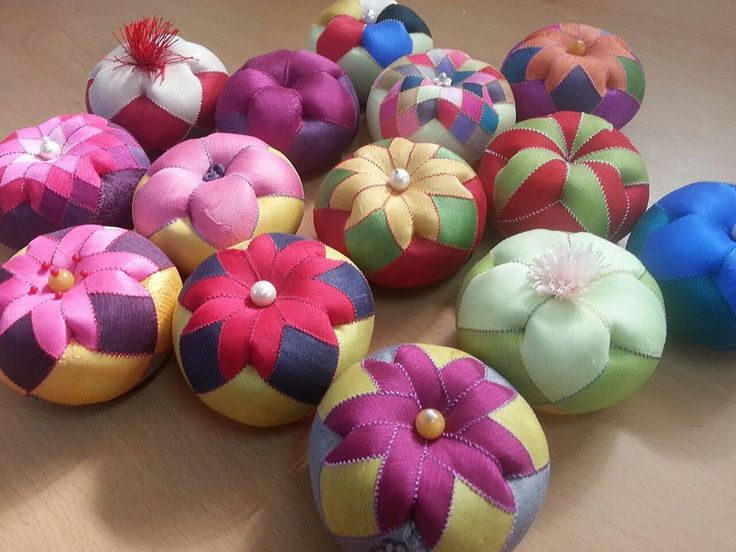 Korean patchwork concept Pin-cushions
