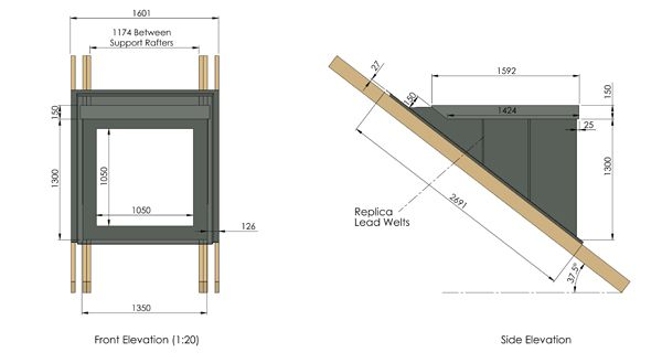 Flat roof dormer ig grp wagner house addition atticus for Dormer window construction drawings