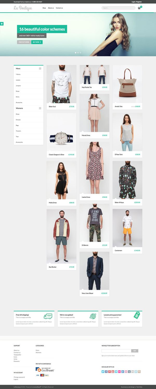 La Boutique eCommerce template on Behance
