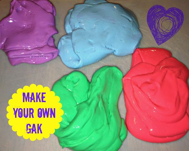 Make Your Own Gak - The TipToe Fairy