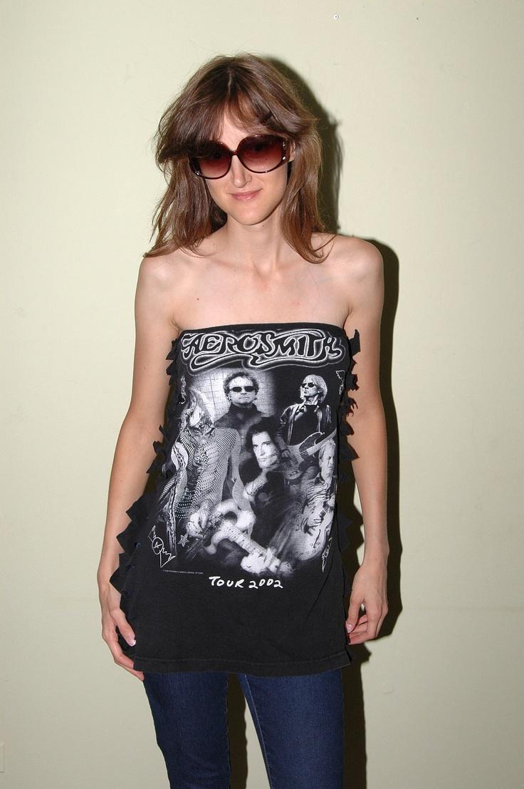 Aerosmith Tour 2002 T shirt DIY Tube Top SZ S. $19.99, via Etsy.
