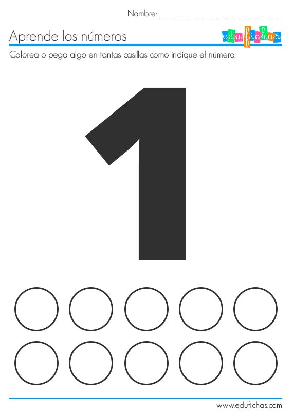 fichas de numeros para poner pegatinas