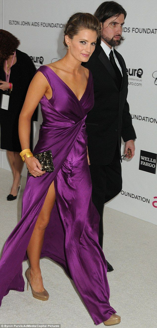 Married! Stana Katic and business consultant Kris Brkljac, spotted at the 2012 Elton John ...