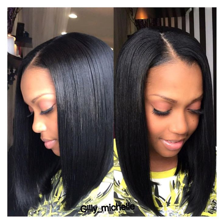 Sensational 1000 Ideas About Long Bob Weave On Pinterest Middle Part Sew In Short Hairstyles Gunalazisus
