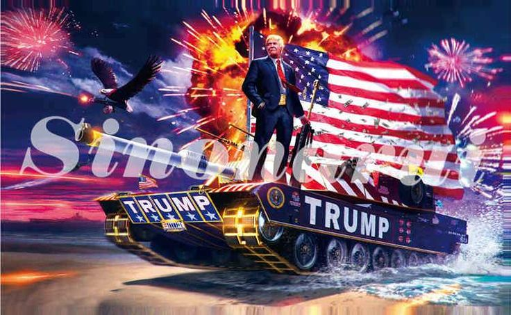 DONALD TRUMP TANK Flag 90x150cm Digital Print Polyester Banner With 2 Metal Grommets 3x5ft