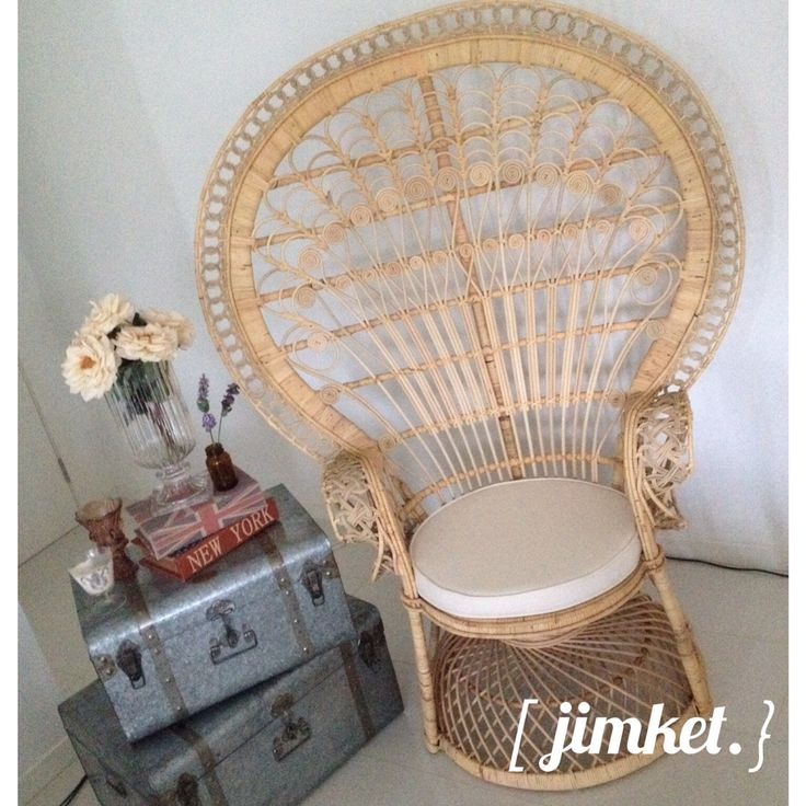 .. say WOW with our peacock rattan chair , don't worry we have 2 available for hire!