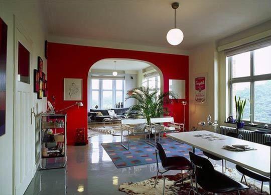 стены,окраска,двухцветные стены,разделение пространства,цвет,оттенок,функциональное разделение